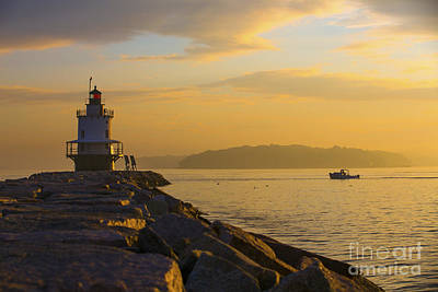 Sunrise At Spring Point Portland Maine Art Print