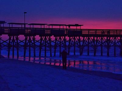Photograph - Sunrise At Surfside Pier by Stacy Sikes