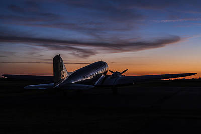 Sunrise At The Airport Print by Amber Kresge