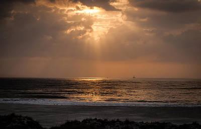 Claude Monet - Sunrise at the Beach by Gabrielle Harrison