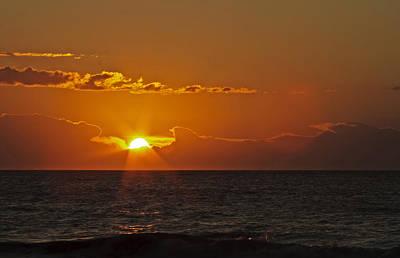 Photograph - Sunrise At The Beach by Gene Berkenbile