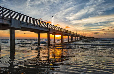 Surf Photograph - Sunrise At The Beach by Tod and Cynthia Grubbs