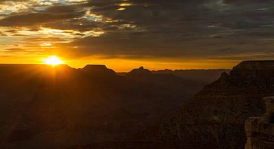 Sunrise At The Canyon Art Print