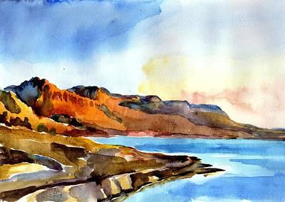 Painting - Sunrise At The Dead Sea  by Anna Lobovikov-Katz