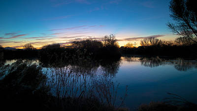 Scifi Portrait Collection - Sunrise at the Gilbert Riparian Preserve by  Robert Turchick