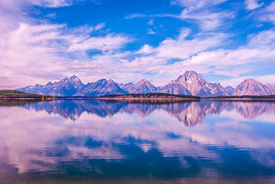 Photograph - Sunrise At The Grand Tetons And Jackson Lake by Brenda Jacobs