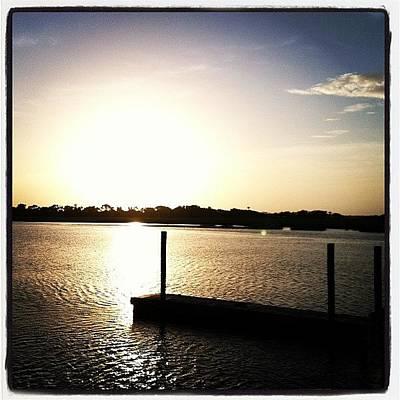 Marsh Photograph - Sunrise At The Hidden Dock #sunrise by M Wilson