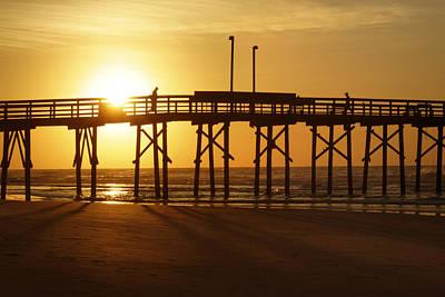 Atlantic Ocean Digital Art - Sunrise At The Jolly Roger Pier 2 by Mike McGlothlen