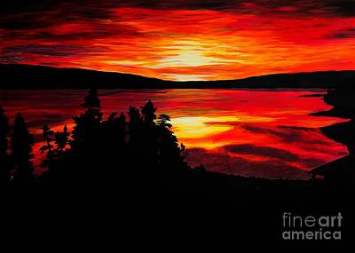 Painting - Sunrise At The Lake by Barbara Griffin