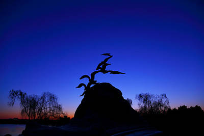 Photograph - Sunrise At The Navy  Merchant Marine Memorial by Metro DC Photography