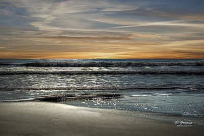 Sunrise At The Beach Photograph - Sunrise At The Ocean by Joe Granita