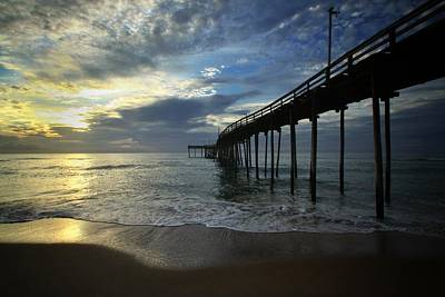 Photograph - Sunrise At The Pier by Dave Hall