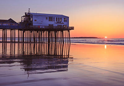 Sunrise At The Pier On Oob Art Print by Shane Borelli