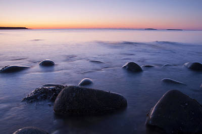 Photograph - Sunrise At The Seawall Acadia National Park by Glenn Gordon