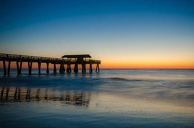 Photograph - Sunrise At The Tybee Island Pier by Anthony Doudt