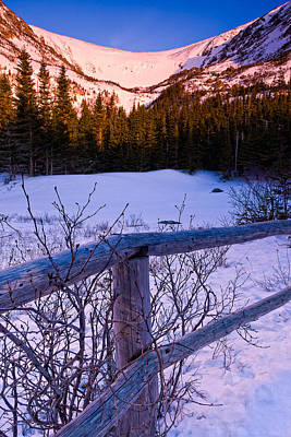 Sunrise At Tuckerman's With Fence 2 Art Print