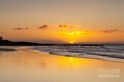 Photograph - Sunrise Bamburgh Beach Northumberland England by Colin and Linda McKie