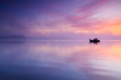 Sunrise Bay Art Print by Darren  White