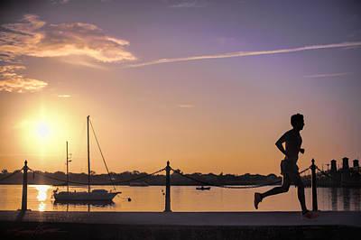 Sunrise Bayfront Runner Art Print