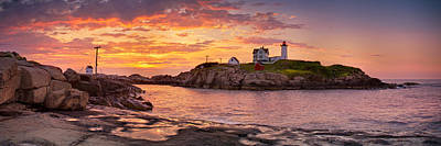 Sunrise Behind Cape Neddick  Art Print