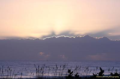 Photograph - Sunrise Behind The Clouds by Nance Larson