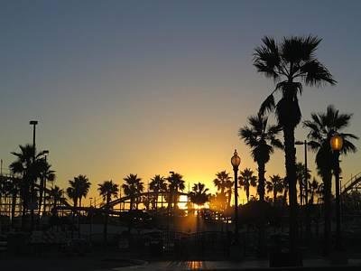 Sunrise Belmont Park San Diego 1 Art Print