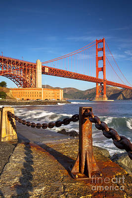 Photograph - Sunrise Below Golden Gate by Brian Jannsen