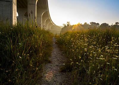Photograph - Sunrise Bridge  by Tim Fitzwater