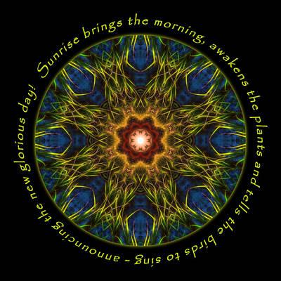 Photograph - Sunrise Brings Mandala by Beth Sawickie