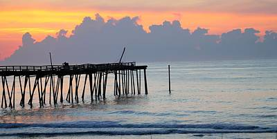 Ocean Photograph - Sunrise By A Rickety Pier by Matthew Modena