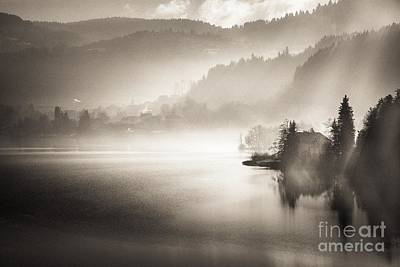 Sunrise By The Lake Art Print