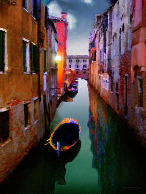 Sunrise Canal Art Print