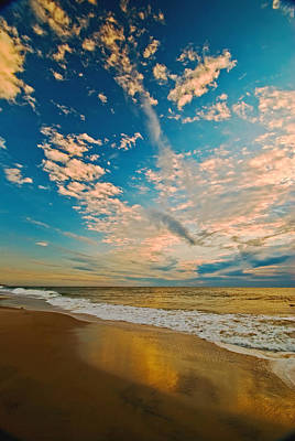 Sunrise Coming At The Shore. Art Print by Bill Jonscher