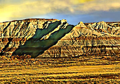Digital Art - Sunrise Crystal Ridge Death Valley National Park by Bob and Nadine Johnston