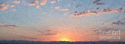Photograph - Sunrise - Digital Oil by Ed Churchill