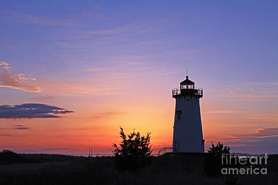 Photograph - Sunrise Edgartown Light 4 by Butch Lombardi