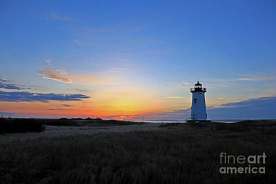 Photograph - Sunrise Edgartown Light 3 by Butch Lombardi