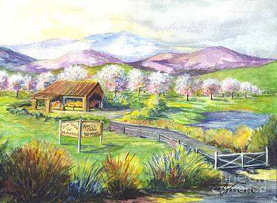 Sunrise Farm Stand Art Print by Carol Wisniewski