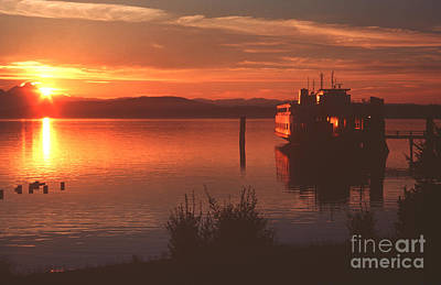 Sunrise Ferry Print by Jeanette French