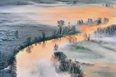 Autumn Field Wall Art - Photograph - Sunrise by Fiorenzo Rondi