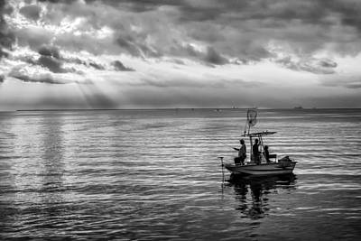 Photograph - Sunrise Fishermen by James Woody