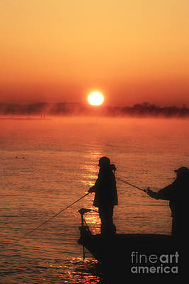 Minimalist Movie Quotes - sunrise Fishermen ll by Scott B Bennett