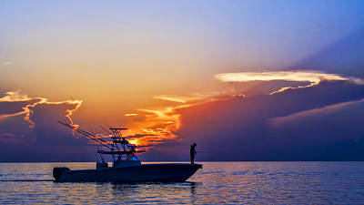 Photograph - Sunrise Fishing by Don Durfee
