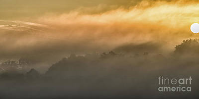 Sunrise Fog Appalachian Mountains Art Print