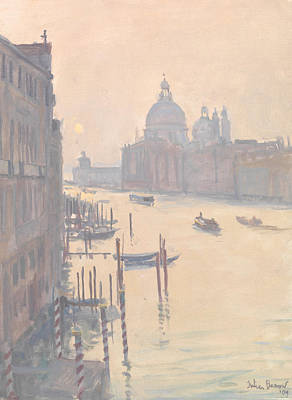 Dome Painting - Sunrise From Accademia Bridge by Julian Barrow