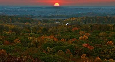 Sunrise From Atop Art Print by Julie Franco