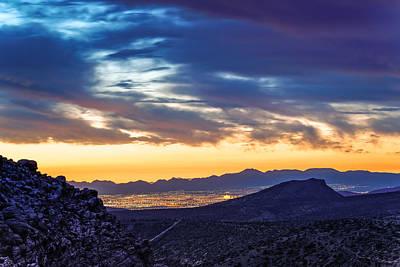 Las Vegas Photograph - Sunrise From Calico Hills - Red Rock Canyon - Las Vegas Nevada by Silvio Ligutti