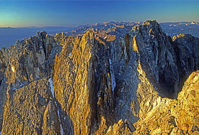 Photograph - 4mm6433-sunrise On Split Mountain by Ed  Cooper Photography