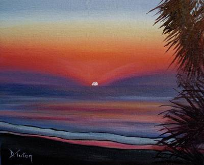 Art Print featuring the painting Sunrise Glow by Donna Tuten