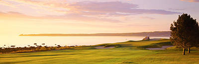 Daybreak Photograph - Sunrise Golf Course Me Usa by Panoramic Images